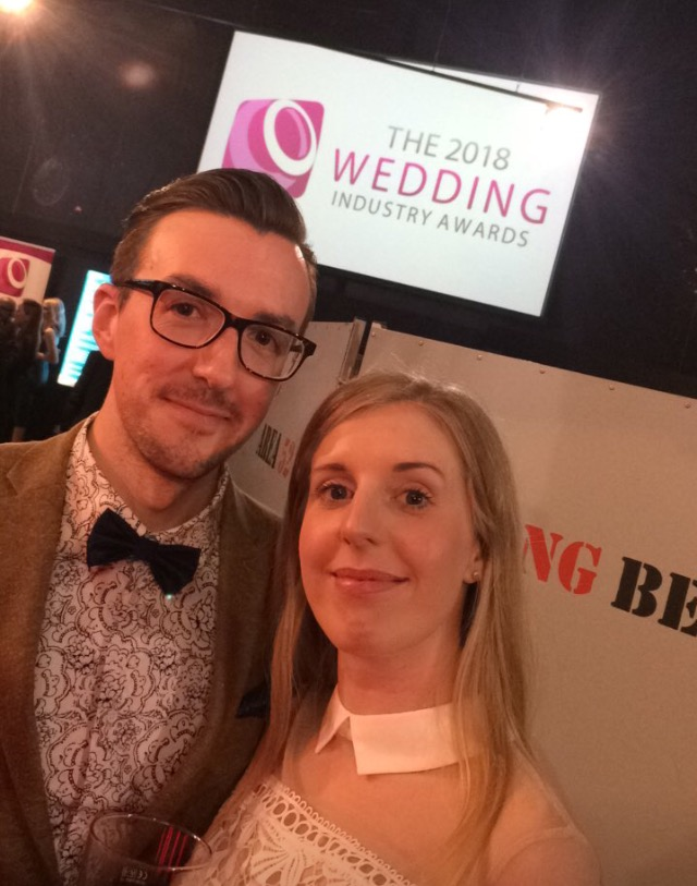 Wedding DJs in Leicester - DJ Jack with Louise at the Wedding Industry Awards