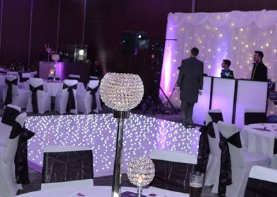 wedding lighting and dj
