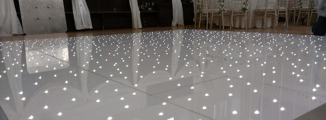 White LED Dance Floor Hire Loughborough