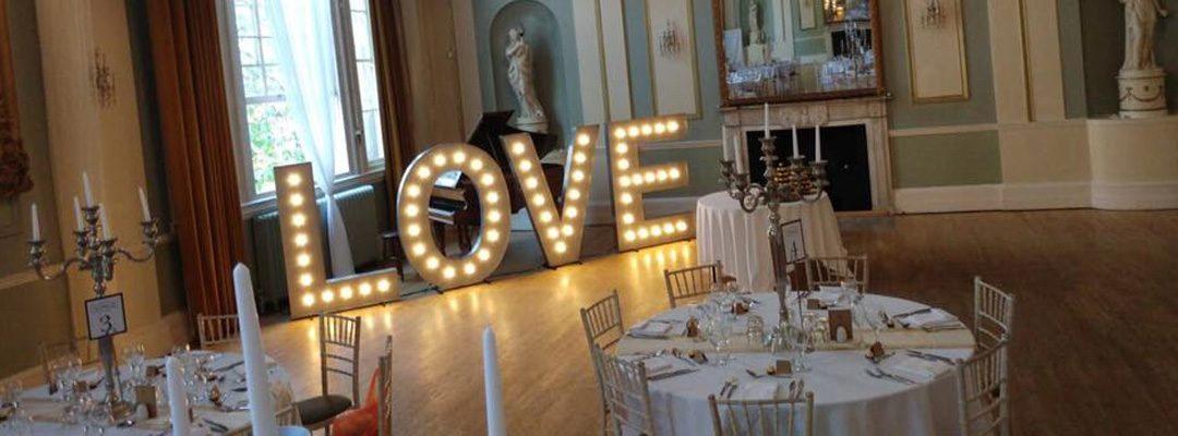 LOVE Light Up Letter Hire Available in the Midlands.
