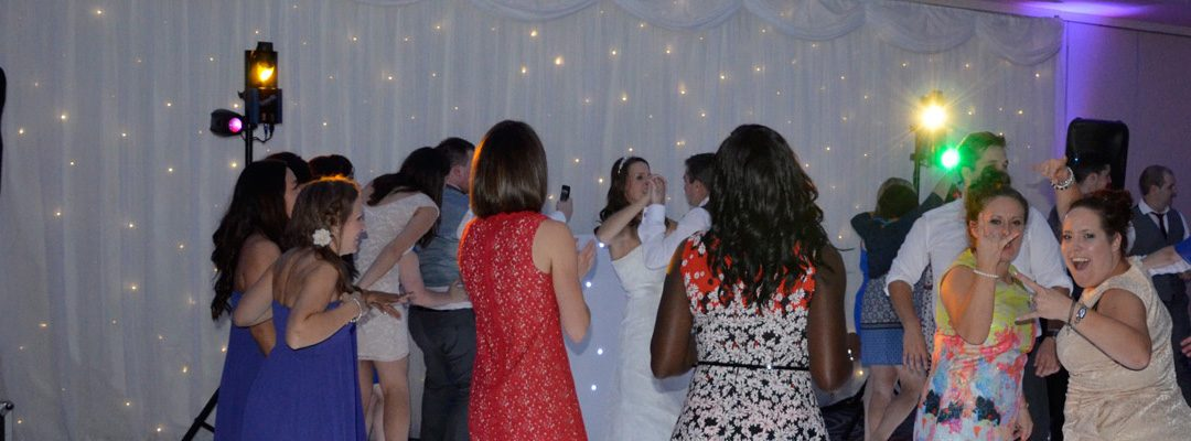 Wedding DJ and White LED Dance Floor Hire