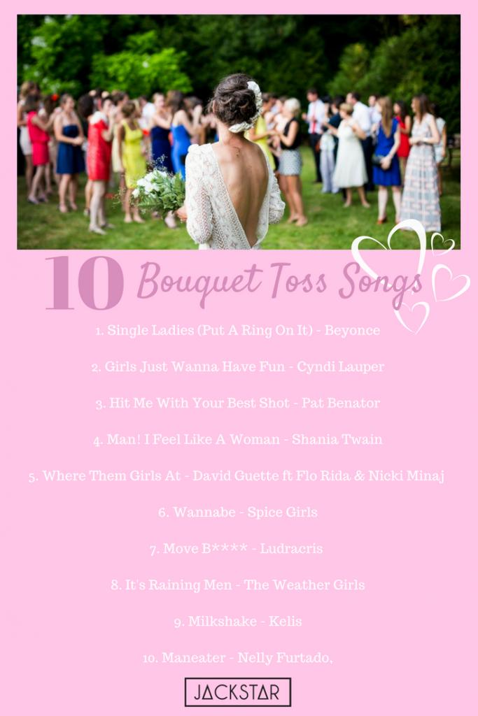10 bouquet toss songs