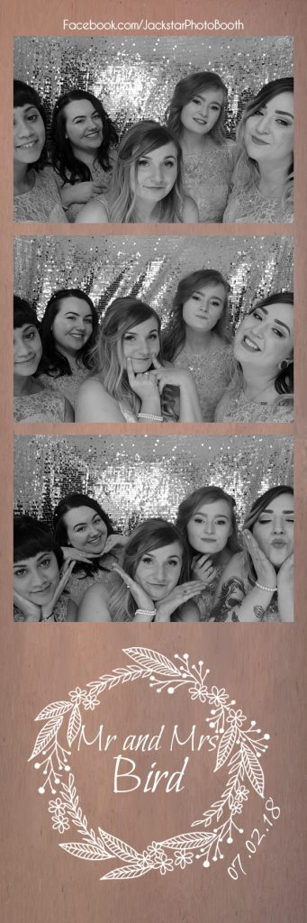 The bride and bridesmaids enjoying our photo booth!