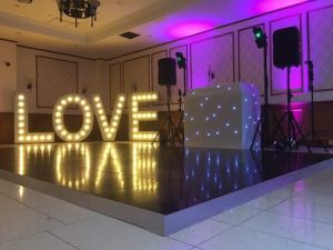 Quorn Country Hotel Wedding - Our DJ & 5ft Giant LOVE Letters