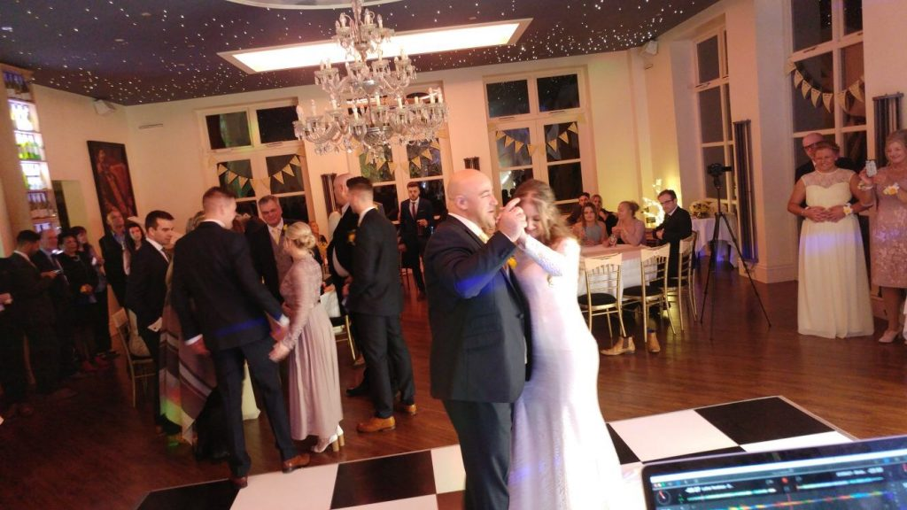 Wedding DJ at Shottle Hall - Grace and her father Rob