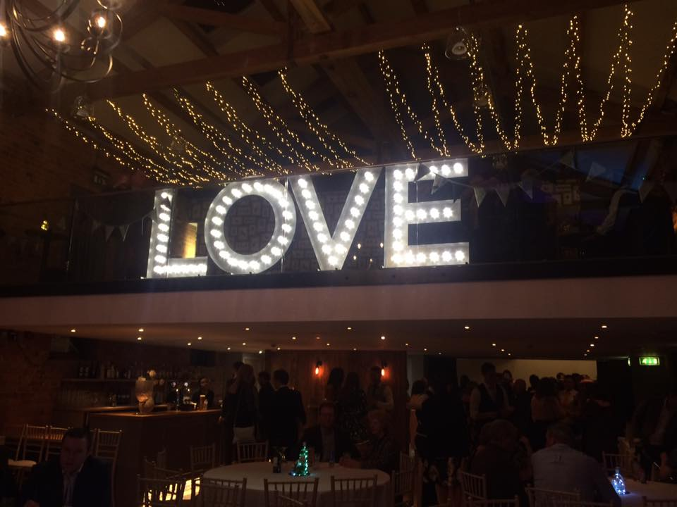 4ft LOVE Letters at Carriage Hall, Nottinghamshire