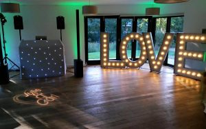 Wedding DJ, Monogram & 5ft LOVE Letters