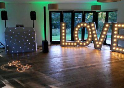 Wedding DJ, Monogram & 5ft LOVE Letters
