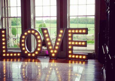 LOVE at Prestwold Hall Wedding
