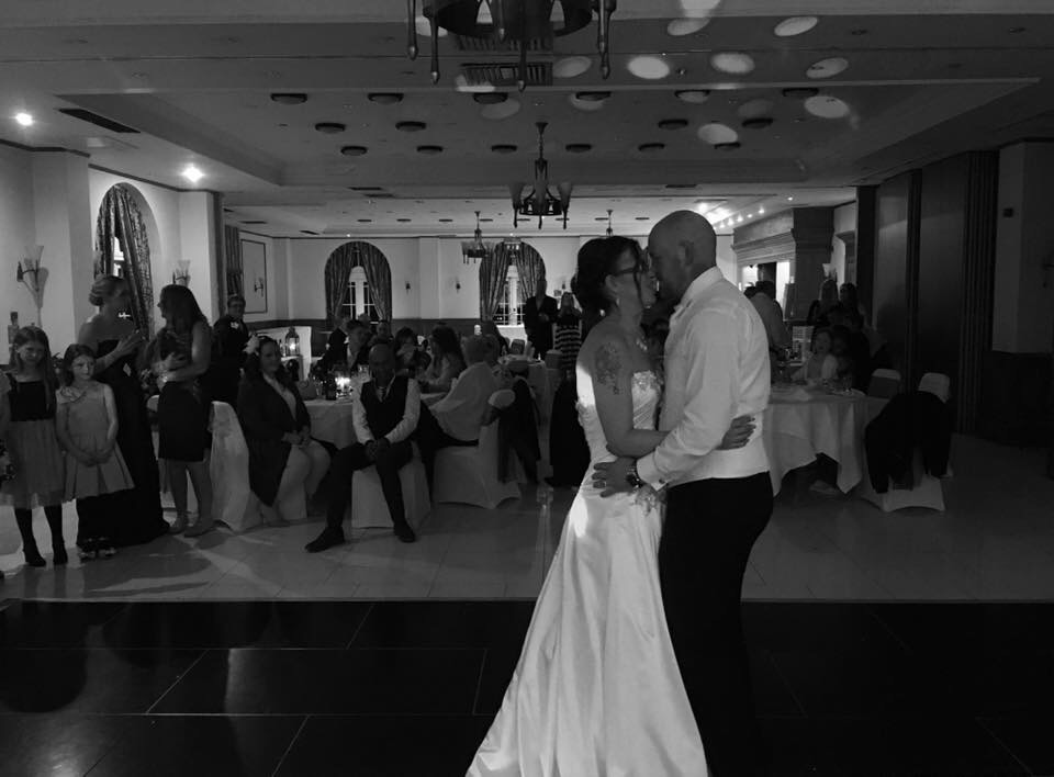 Wedding DJ Quorn - Mark and Rachel dancing for the first time as husband and wife