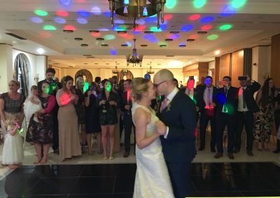 Lisa & David taking to the floor for the first time as husband and wife