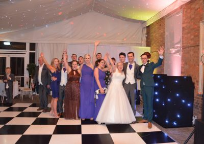 all day wedding DJ with wedding guests