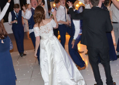 White LED Dance Floor - Wedding at Keythorpe Manor