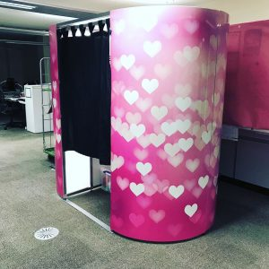 Pink Heart Photo Booth Hire in Coventry