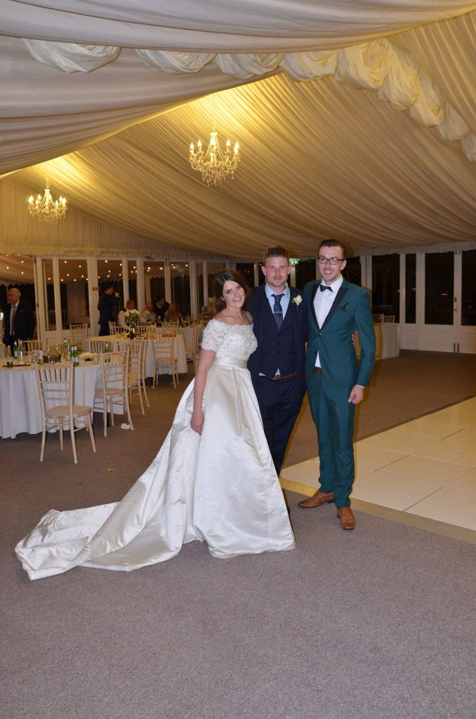 Wedding DJ with Bride & Groom at Keythorpe Manor