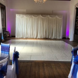 Star-Lit Backdrop, Dance Floor and Uplighting