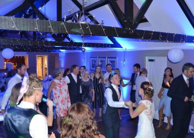 Derby wedding DJ with lighting
