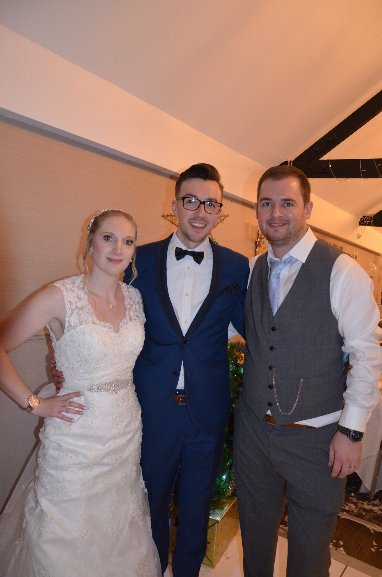 Bride Alicia, Wedding DJ Jack and Groom Andy