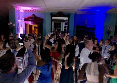 Wedding guests dancing at Prestwold Hall