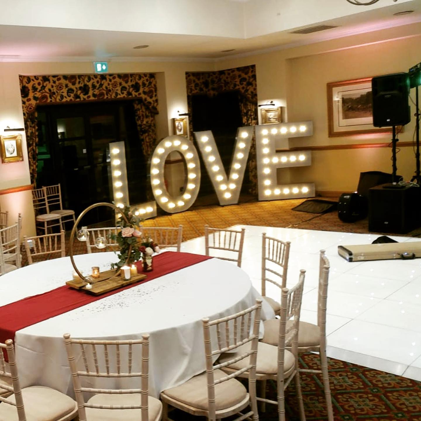 Ansty Hall Weddings - 5ft LOVE Letters & Dance Floor