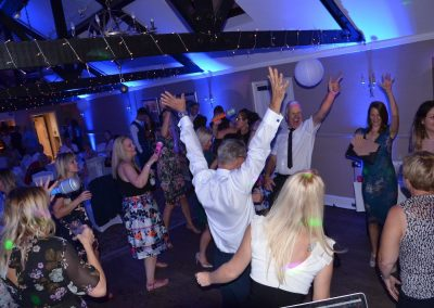 Guests dancing to wedding DJ