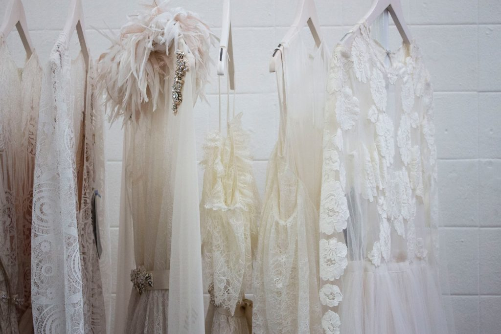 Selection of unique wedding dresses