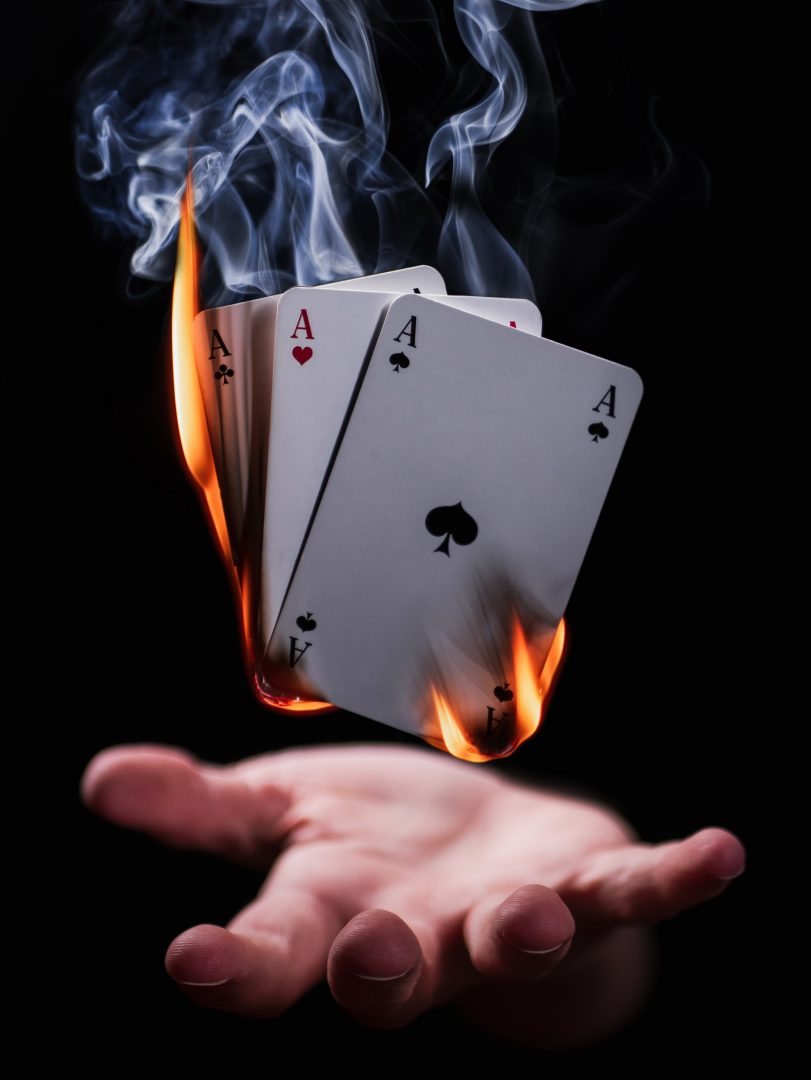 Wedding Entertainment - Magician burning cards trick