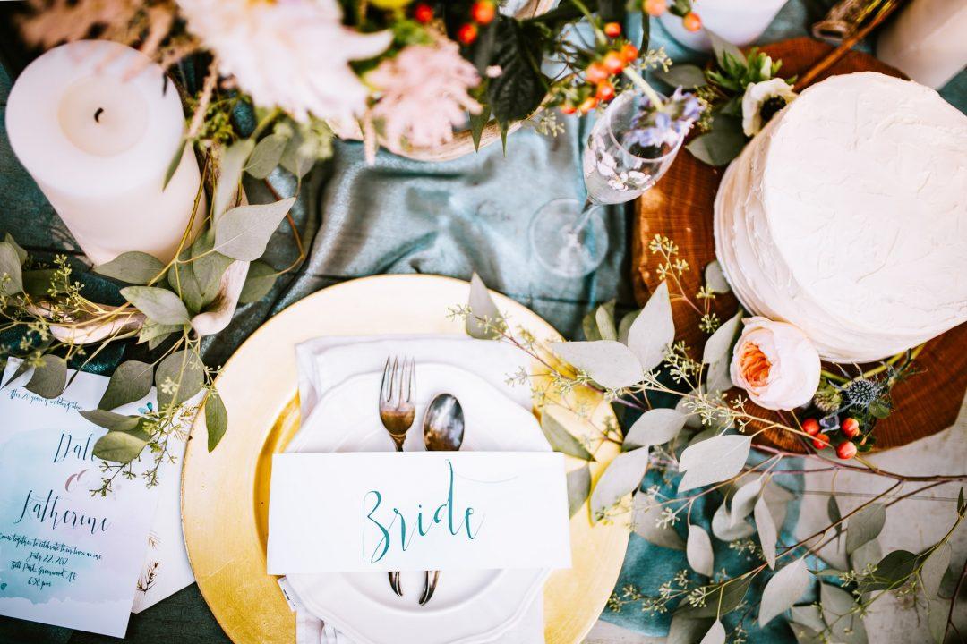Rustic Wedding Breakfast Table Setting