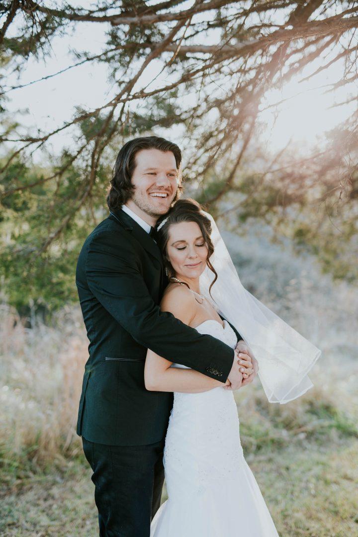 Woodland wedding photo shoot outdoors