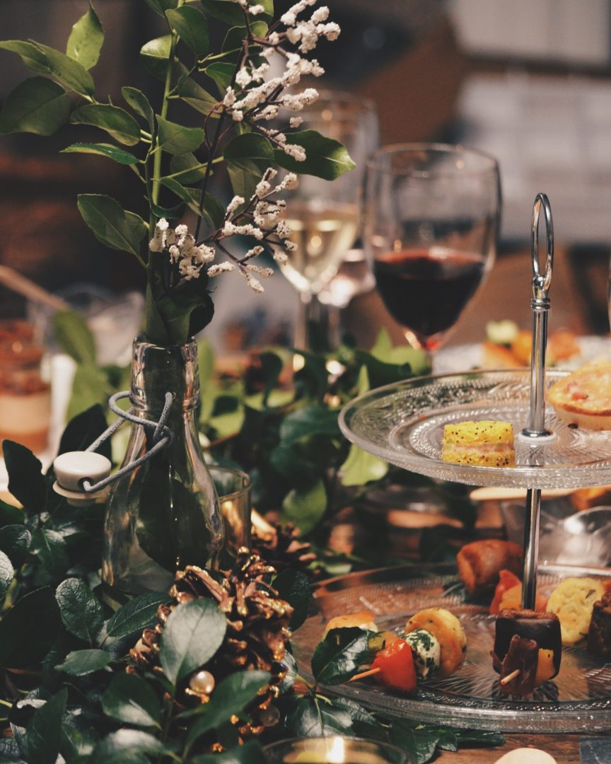 Wedding breakfast with rustic table setting