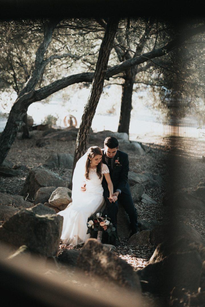 wedding couples rustic woodland photo shoot