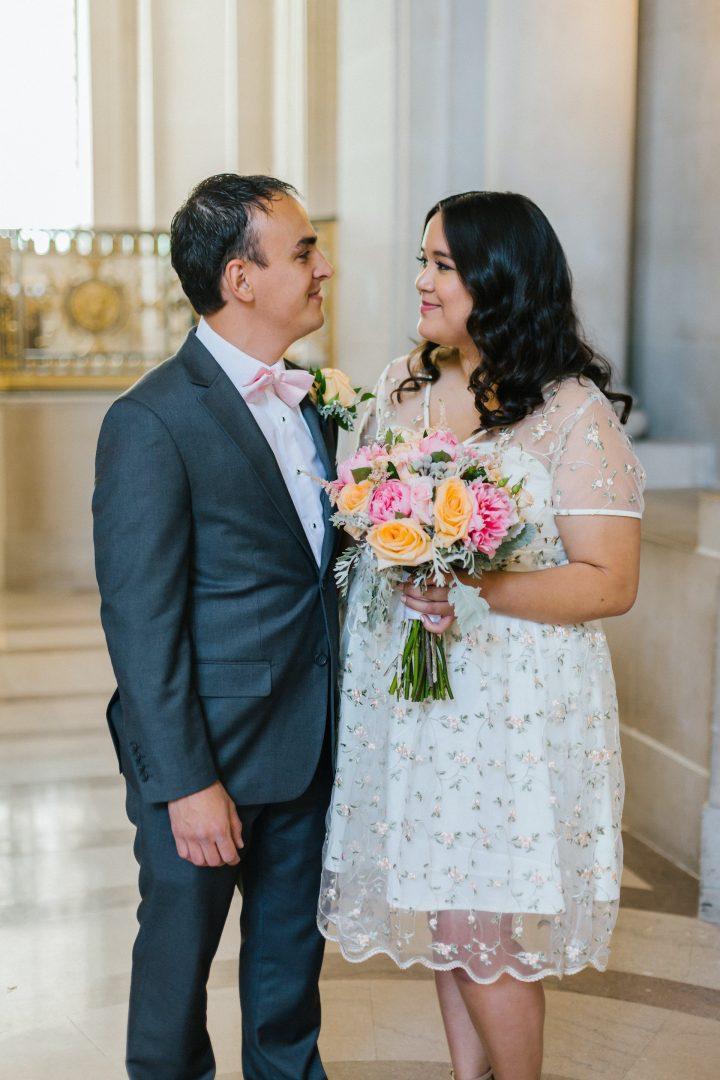 Wedding dress and groom suit ideas