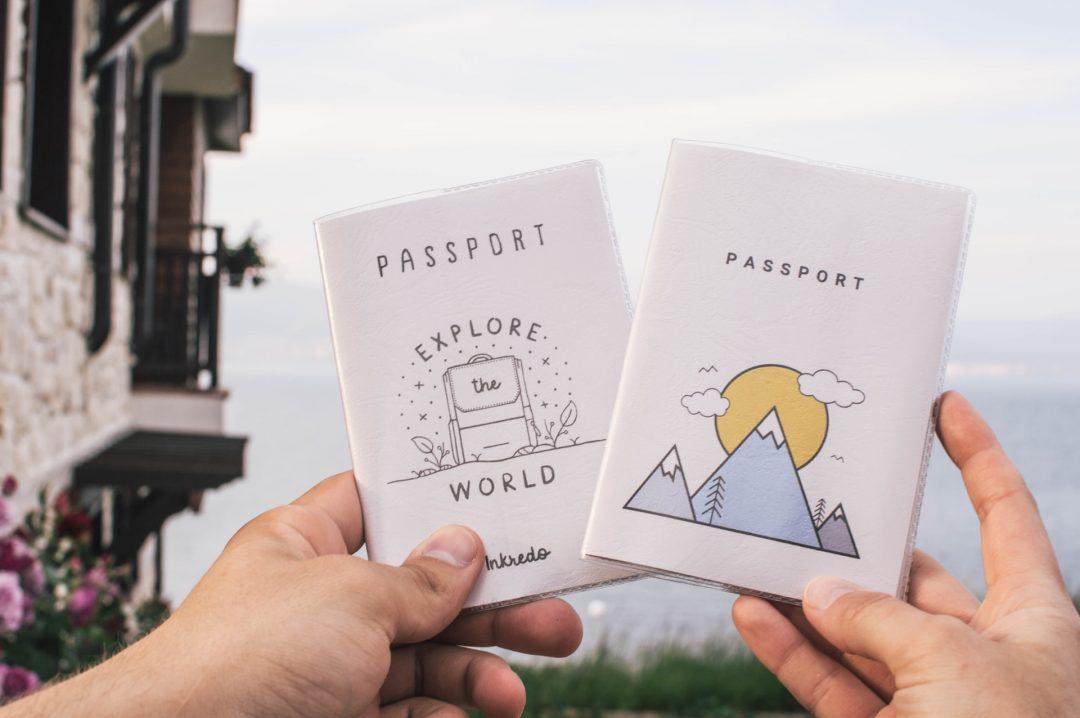 Funky Passport Designs for Wedding Invites