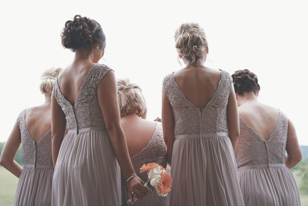 Photo of bridesmaid dress from the back