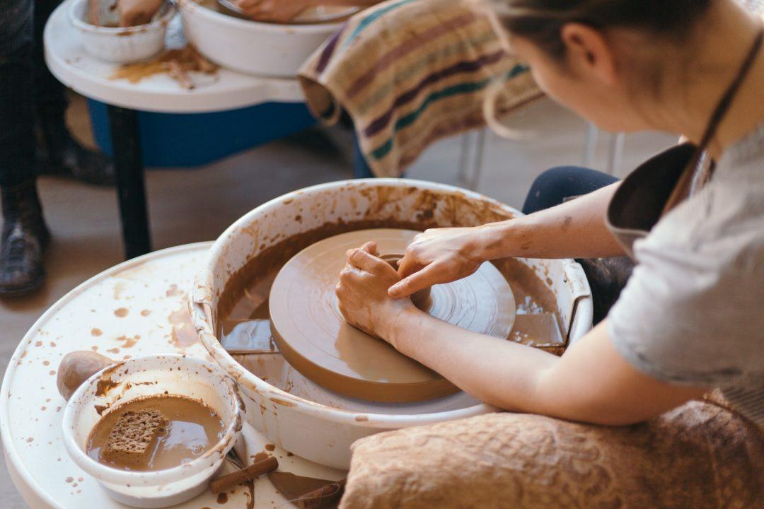 Hen weekend pottery making class
