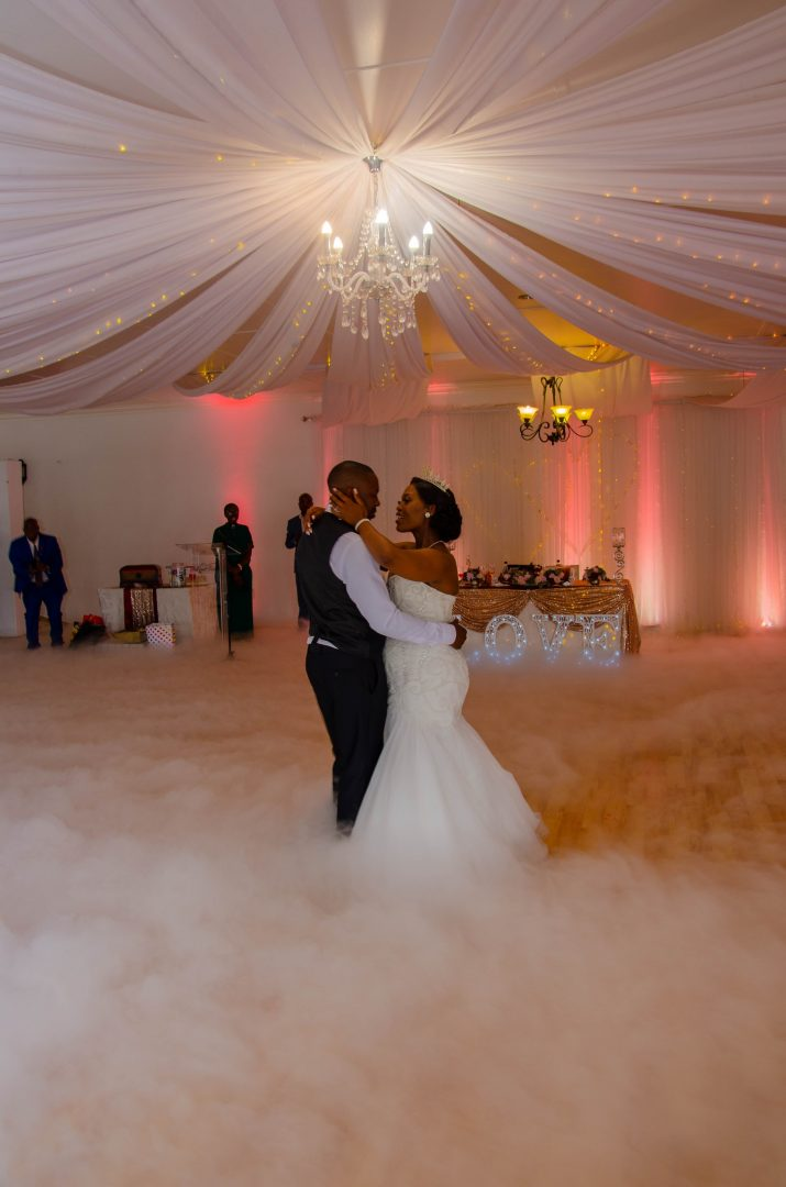 First dance with lighting and cloud effect