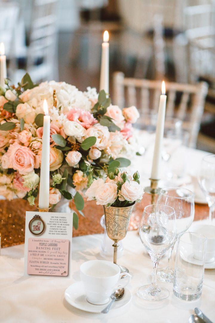 Wedding decor table setting