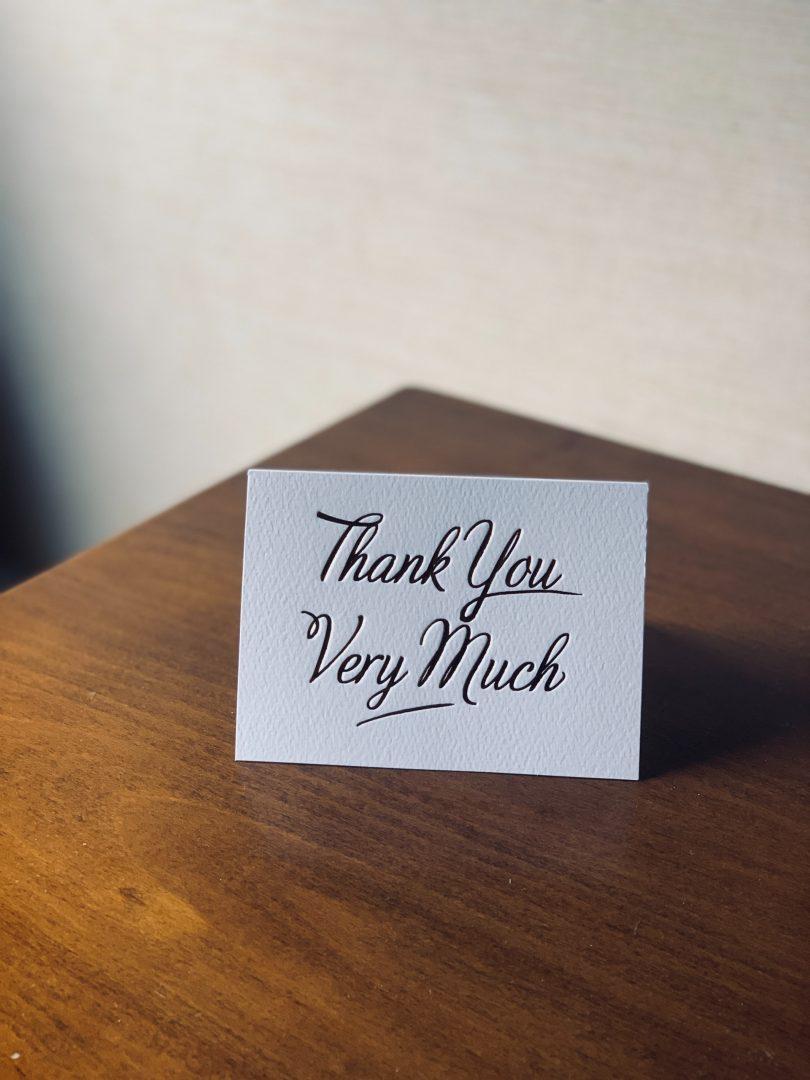 Stylish wedding thank you cards